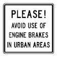 Canadian Engine Brake Warning