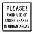 Canadian Engine Brake Warning