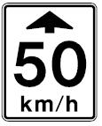 Canadian Advance Speed Limit Warning