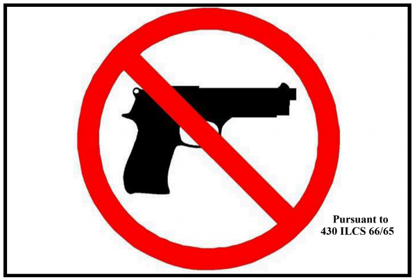 Illinois Guns Prohibited Sign