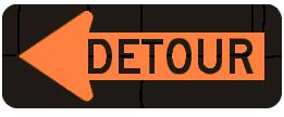 DETOUR (Enclosed Arrow)
