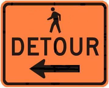 DETOUR - Pedestrian with Arrow