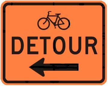 DETOUR - Bicycle with Arrow
