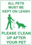 ALL PETS MUST BE KEPT ON LEASH