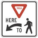Uncontrolled Crosswalk - YIELD