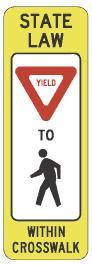 Uncontrolled Crosswalk - YIELD