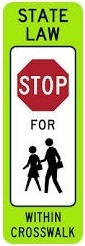 In Street School Crossing - STOP
