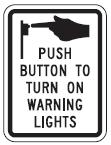 Push Button to Turn on Warning Lights