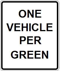 One Vehicle Per Green
