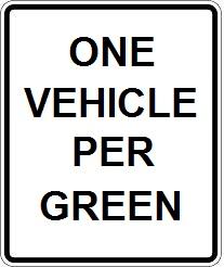One Vehicle Per Green