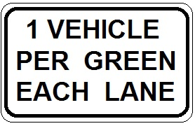 1 Vehicle Per Green Each Lane