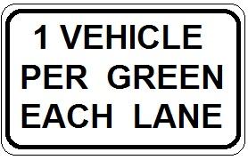 1 Vehicle Per Green Each Lane