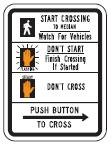 Educational Crosswalk Sign