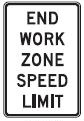 End Work Zone Speed Limit