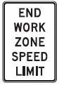 End Work Zone Speed Limit