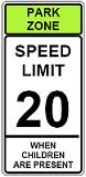 Park Zone Speed Limit