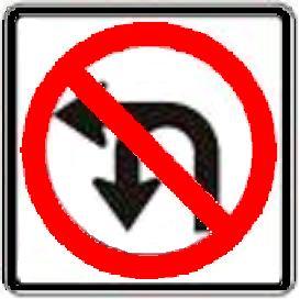 No U-Turn or Left Turn symbol