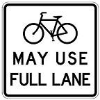 Bike - MAY USE FULL LANE