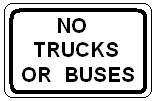No Trucks or Buses