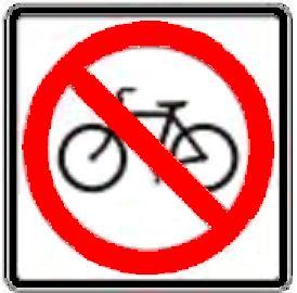 No Bicycles symbol