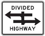 Divided Highway with Straight Lane Extended