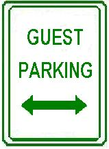 GUEST PARKING double arrow