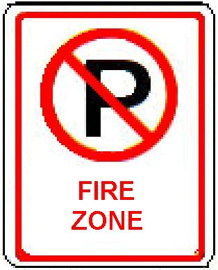 No Parking symbol FIRE