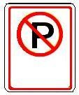 No Parking symbol left arrow