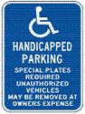Massachusetts Handicap Parking symbol