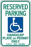 Arizona Handicap Sign