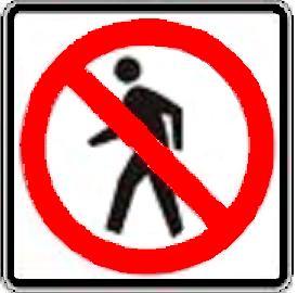 No Pedestrian symbol
