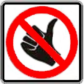 No Hitch-Hiking symbol