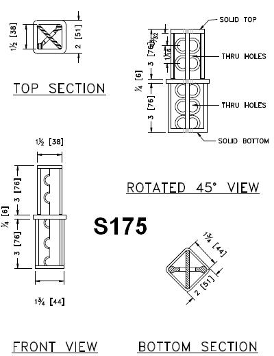 1 3/4-inch to 2-inch Square Tube Coupler Detail