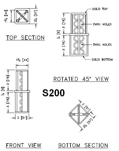 2-inch to 2 1/4-inch Square Post Coupler