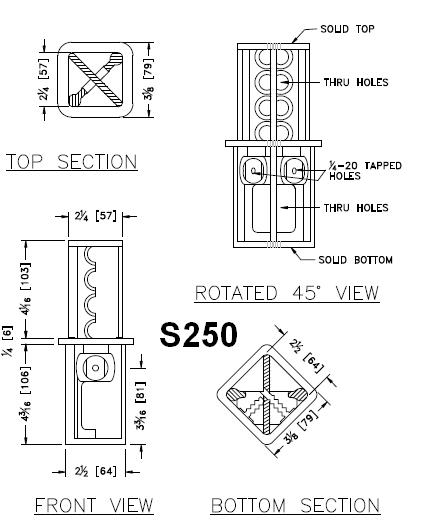 2 1/2- to 3-inch Square Tube Coupler