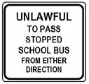 Unlawful to Pass Stopped School Bus