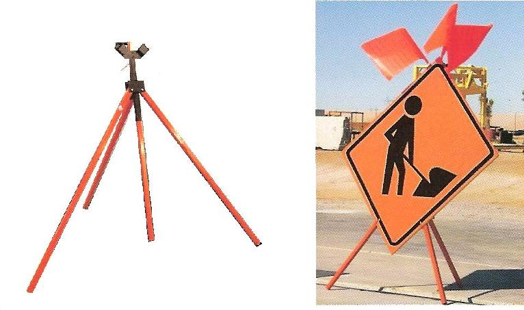 Heavy-Duty Tripod Sign Stand