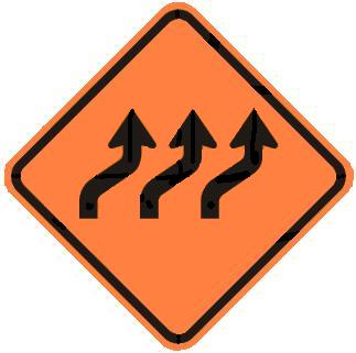 Three-Lane Reverse Curve