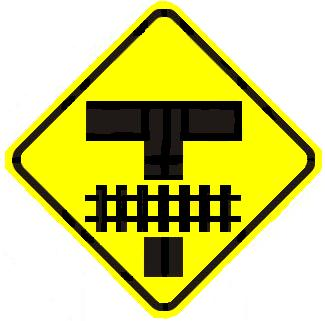 Railroad T Intersection - Front - Advance Warning