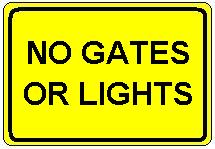 No Gates or Lights plate