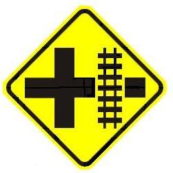 Railroad Crossroad Advance Warning - Right