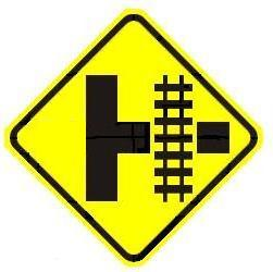 Railroad Side Road Advance Warning - Right