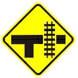 Railroad T-Intersection - Side Warning - Right