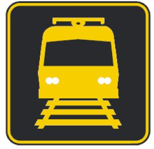 Light Rail Activated Blank Out symbol