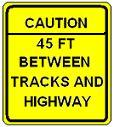 Caution __ FT Between Tracks and Highway