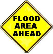 FLOOD AREA AHEAD