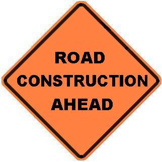 Road Construction Ahead - Roll-up Sign