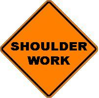 Shoulder Work - Roll-up Sign