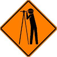 Survey Crew Symbol - Roll-up Sign
