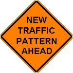 New Traffic Pattern Ahead (Orange)